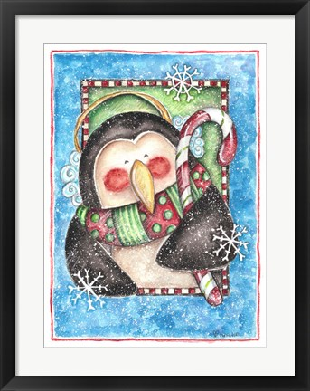 Framed Christmas Penguin Print