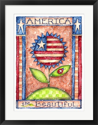 Framed America The Beautiful Print