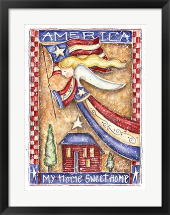 Framed Patriotic Angel Print