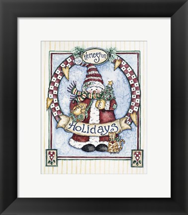 Framed Homespun Holidays Print