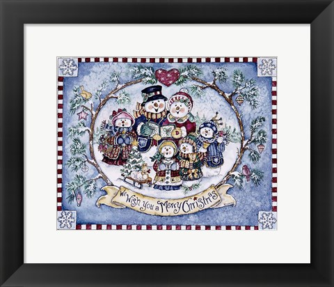 Framed We Wish You A Merry Christmas Print