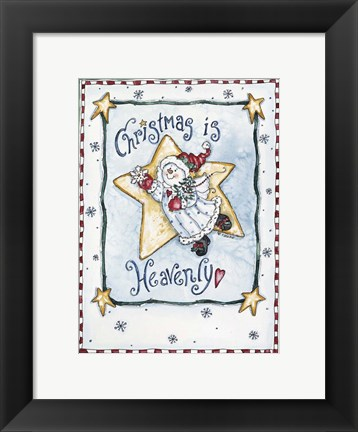 Framed Christmas Is Heavenly Print