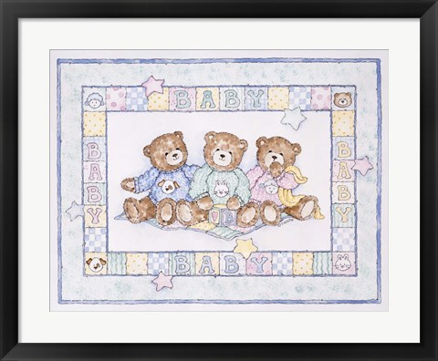 Framed Baby Bears Print
