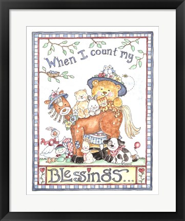 Framed When I Count My Blessings Print