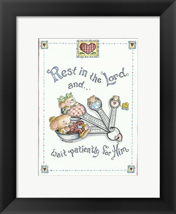 Framed Rest In The Lord Print
