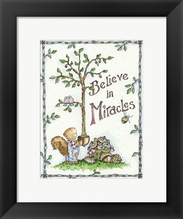 Framed Believe In Miracles Print
