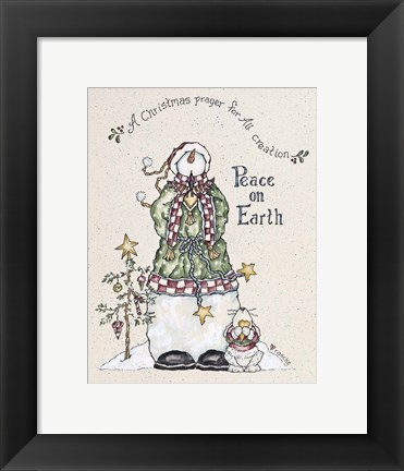 Framed Christmas Prayer Print