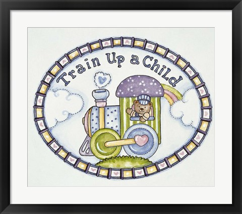 Framed Train Up A Child - Logo Print