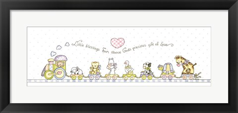 Framed Little Ones To Him Belong Print