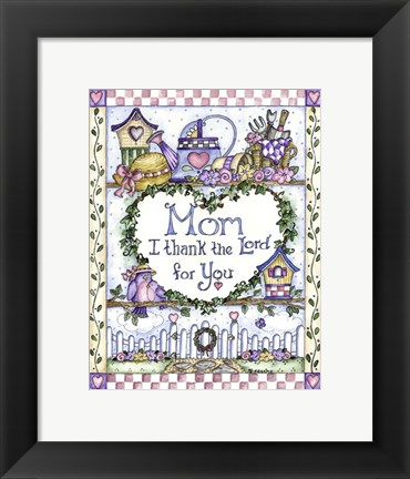 Framed Mom Design Print