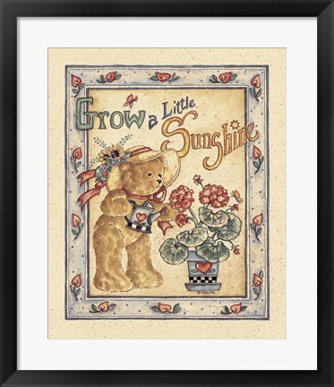 Framed Grow a Little Sunshine Print