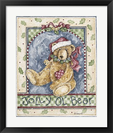 Framed Jolly O'L Bear Print