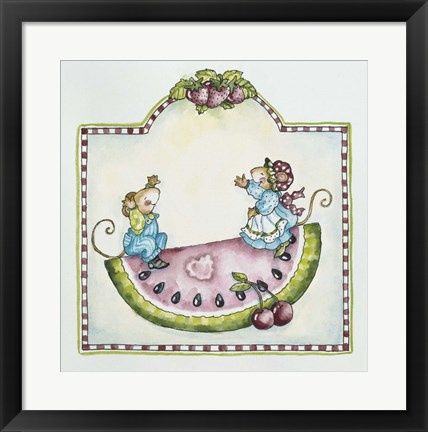 Framed Watermelon Mice Print