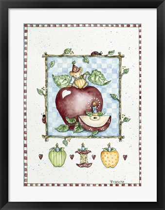 Framed Mouse With Apple Print