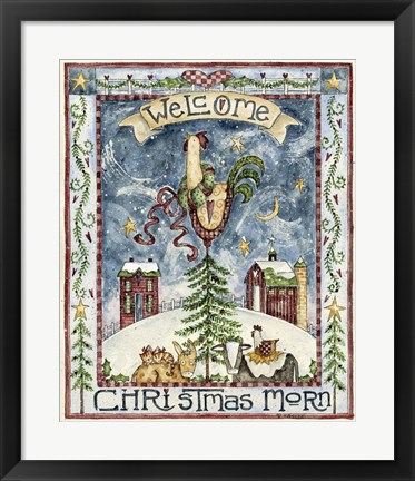 Framed Welcome Christmas Morn Print