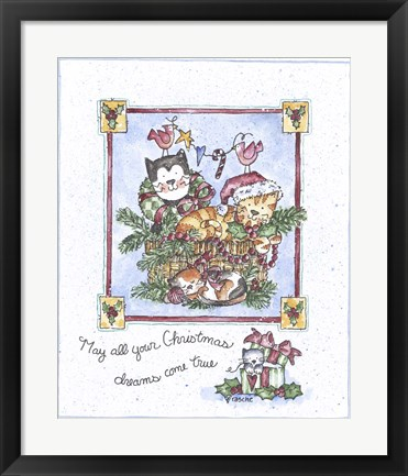 Framed May All Your Christmas Dreams Come True Print