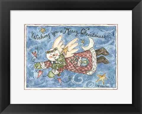 Framed Wishing You A Merry Christmas Print