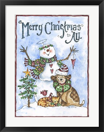 Framed Merry Christmas To All 2 Print