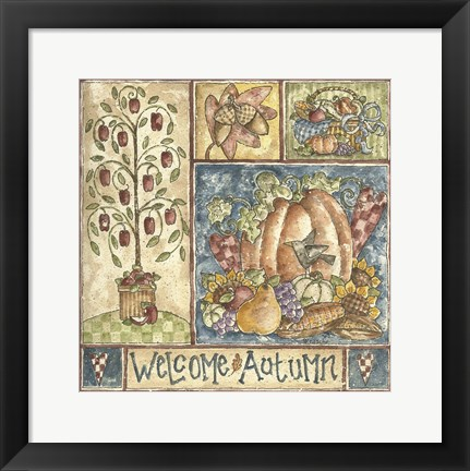 Framed Welcome Autumn Print