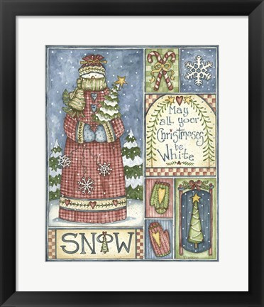 Framed May All Your Christmases Be White Print