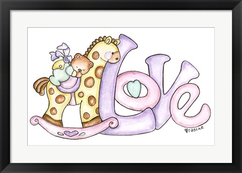 Framed Baby - Love Print