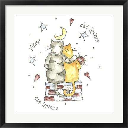 Framed Cat Lovers Color Print