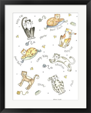 Framed Cats Meow Print