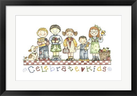 Framed Celebrate Kids Print