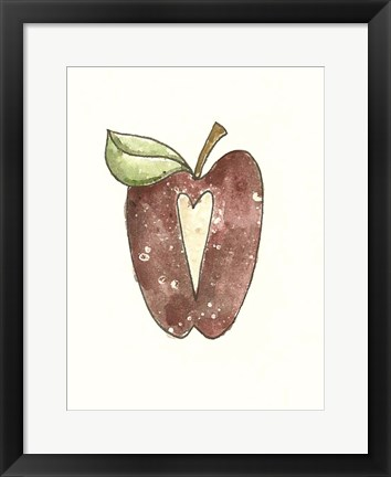 Framed School Apple Print