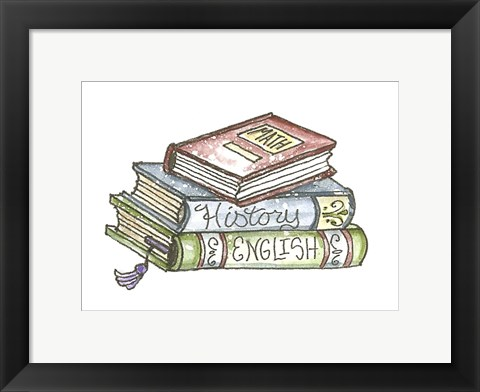 Framed School Books Print