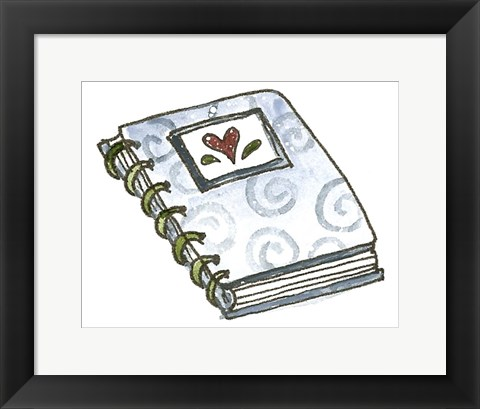 Framed School Spiral Notebook Print