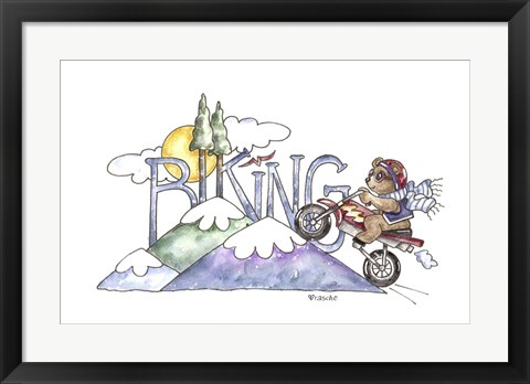 Framed Biking Print