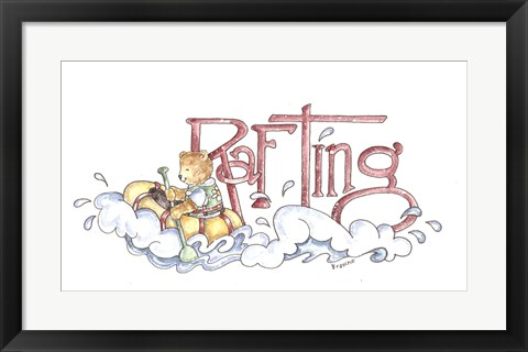 Framed Bear Rafting Print