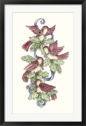 Framed Calling Birds Stocking Print