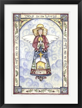 Framed Joy To The World Angel Print