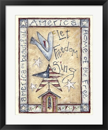 Framed Let Freedom Sing Print