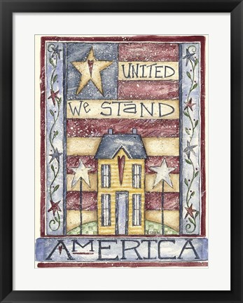 Framed United We Stand Print