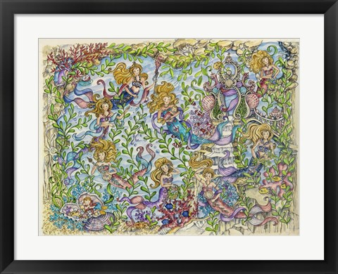 Framed Land Of The Mermaids Print
