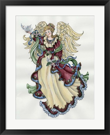 Framed Angel With Doves Print