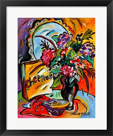 Framed Flowers And Cheereos Print