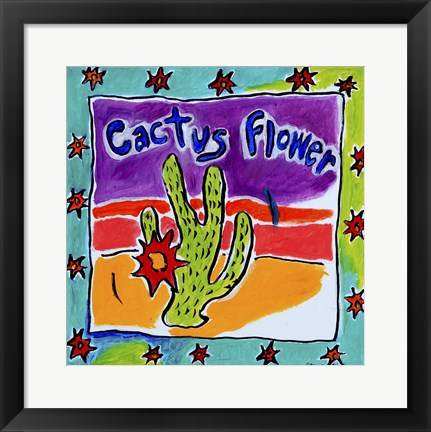 Framed Cactus Flower Print