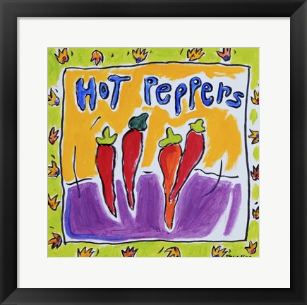 Framed Hot Peppers Print
