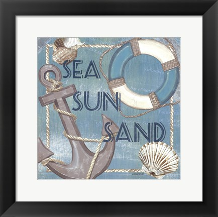 Framed Coastal - Three S's Print