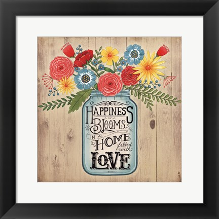 Framed Home Filled With Love Print
