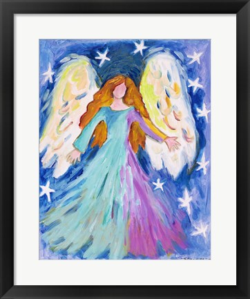 Framed Vibrant Angel Print