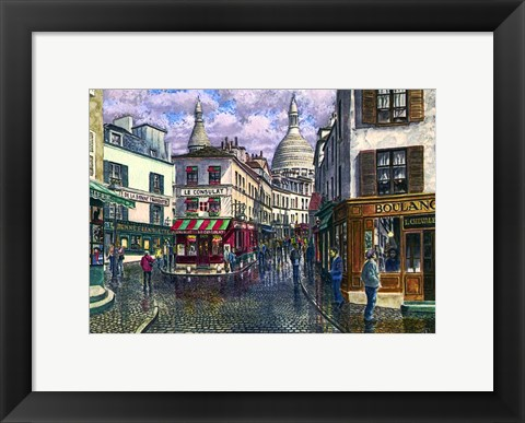 Framed Montmartre A Break In The Storm Print