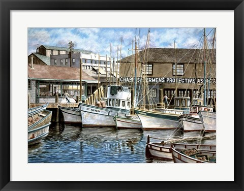 Framed San Francisco Fishrman's Wharf 1941 Print