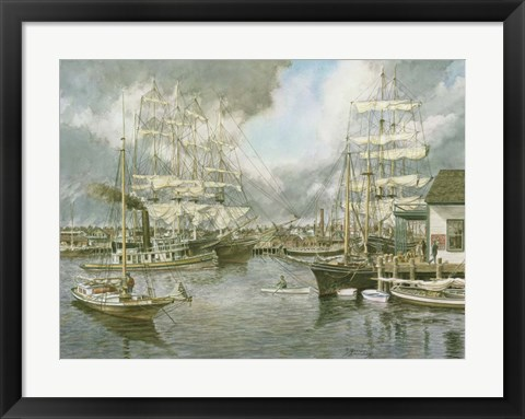 Framed Generic Seaport Print