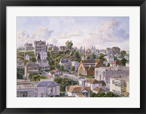 Framed Los Angeles, Bunker Hill From Congretional Church c.1898 Print
