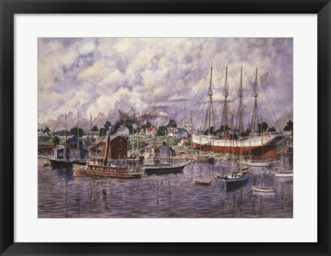 Framed Launching Of Elinor F. Bartram Print